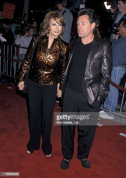Actress Raquel Welch and husband Richard Palmer attend the Bedazzled Westwood Premiere on October 17 2000 at Mann Village Theatre in Westwood...