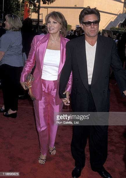 Actress Raquel Welch and husband Richard Palmer attend the Bowfinger Universal City Premiere on August 10 1999 at Universal Amphitheatre in Universal...