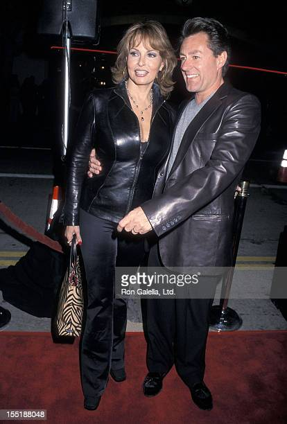 "Actress Raquel Welch and husband Richard Palmer attend the ""Get Carter"" Westwood Premiere on October 4, 2000 at Mann Bruin Theatre in Westwood,..."