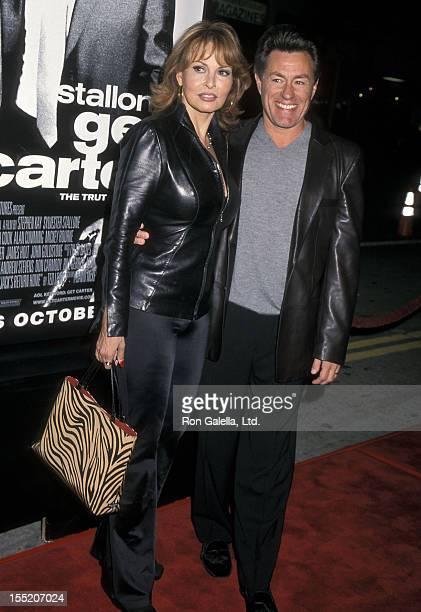 Actress Raquel Welch and husband Richard Palmer attend the Get Carter Westwood Premiere on October 4 2000 at Mann Bruin Theatre in Westwood California