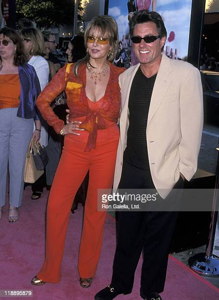 Actress Raquel Welch and husband Richard Palmer attend the Legally Blonde Westwood Premiere on June 26 2001 at Mann Village Theatre in Westwood...