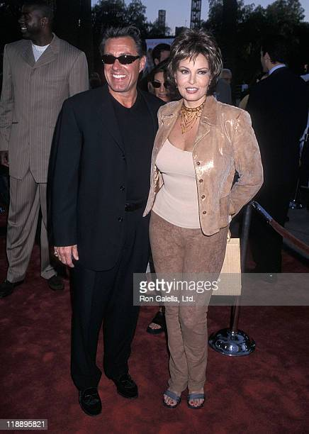 Actress Raquel Welch and husband Richard Palmer attend the Nutty Professor II The Klumps Universal City Premiere on July 24 2000 at Universal...