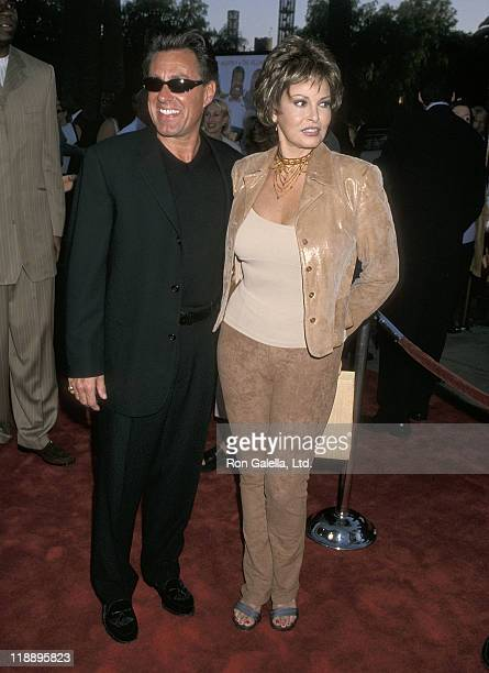 "Actress Raquel Welch and husband Richard Palmer attend the ""Nutty Professor II: The Klumps"" Universal City Premiere on July 24, 2000 at Universal..."