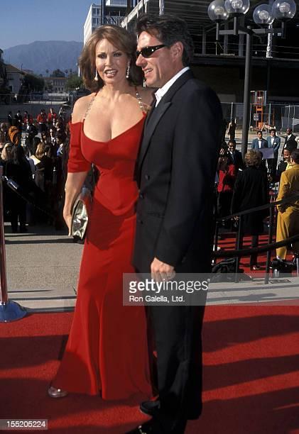 Actress Raquel Welch and husband Richard Palmer attend the Sixth Annual ALMA Awards on April 22 2001 at Pasadena Civic Auditorium in Pasadena...