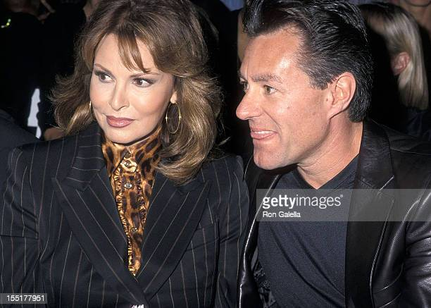 Actress Raquel Welch and husband Richard Palmer attend the Spring 2001 Fashion Week: Escada Fashion Show on September 12, 2000 at Pier 92 in New York...