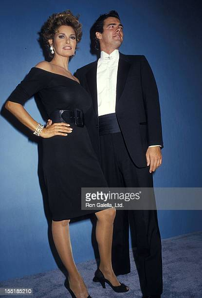 Actress Raquel Welch and son Damon Welch attend the 39th Annual Primetime Emmy Awards on September 20 1987 at Pasadena Civic Auditorium in Pasadena...