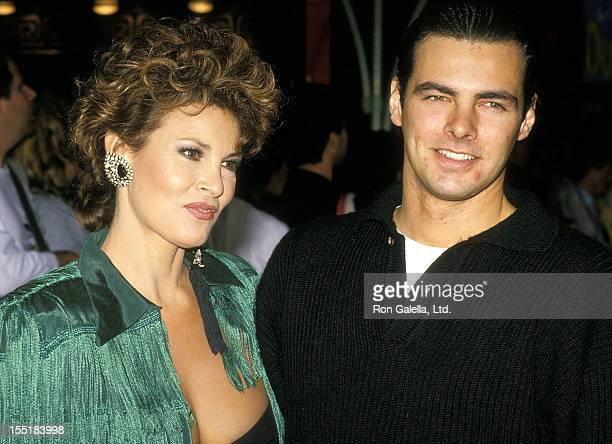 Actress Raquel Welch and son Damon Welch attend the Crocodile Dundee II Hollywood Premiere on May 22 1988 at Mann's Chinese Theatre in Hollywood...