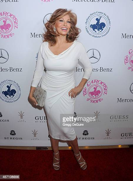 Actress Raquel Welch arrives at the 2014 Carousel Of Hope Ball Presented By MercedesBenz at The Beverly Hilton Hotel on October 11 2014 in Beverly...