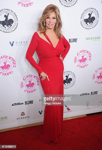Actress Raquel Welch arrives at the 2016 Carousel Of Hope Ball at The Beverly Hilton Hotel on October 8 2016 in Beverly Hills California