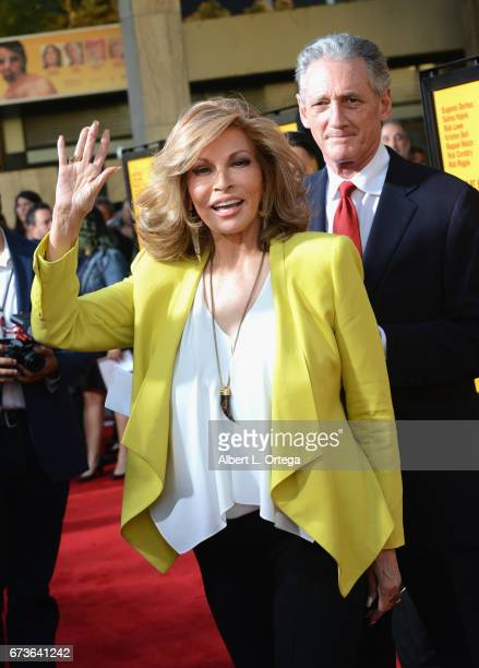 Actress Raquel Welch arrives for the Premiere Of Pantelion Films' 'How To Be A Latin Lover' held at ArcLight Cinemas Cinerama Dome on April 26 2017...