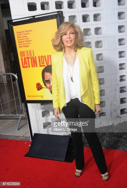 Actress Raquel Welch arrives for the Premiere Of Pantelion Films' How To Be A Latin Lover held at ArcLight Cinemas Cinerama Dome on April 26 2017 in...