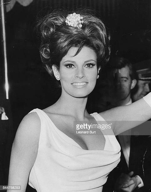 Actress Raquel Welch attending the Royal Film Performance at the Odeon, Leicester Square, London, March 14th 1966.