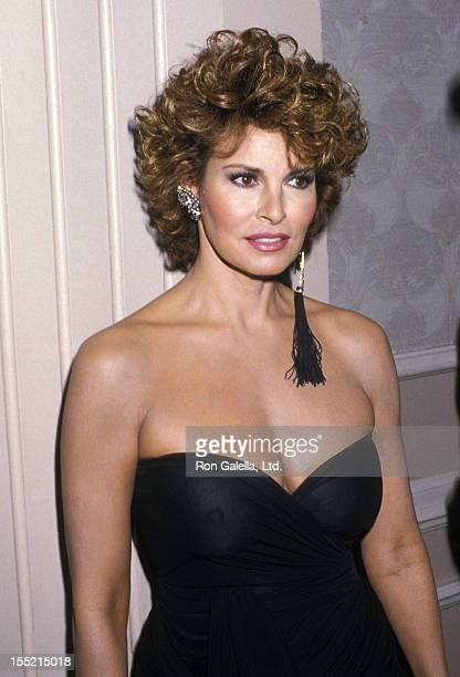 Actress Raquel Welch attends the 18th Annual Nosotros Golden Eagle Awards on May 13 1988 at the Beverly Hilton Hotel in Beverly Hills California