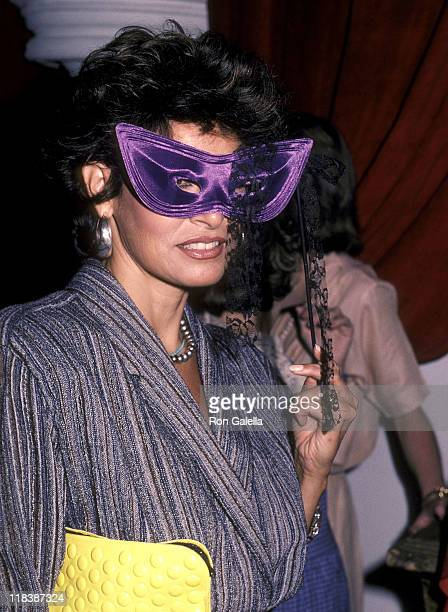 Actress Raquel Welch attends the 'Amadeus' Premiere Party on September 12 1984 at The Limelight in New York City