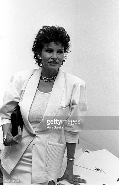 Actress Raquel Welch attends the launch party for The Movies Magazine on June 20 1983 at Kaufman Astoria Studios in New York City
