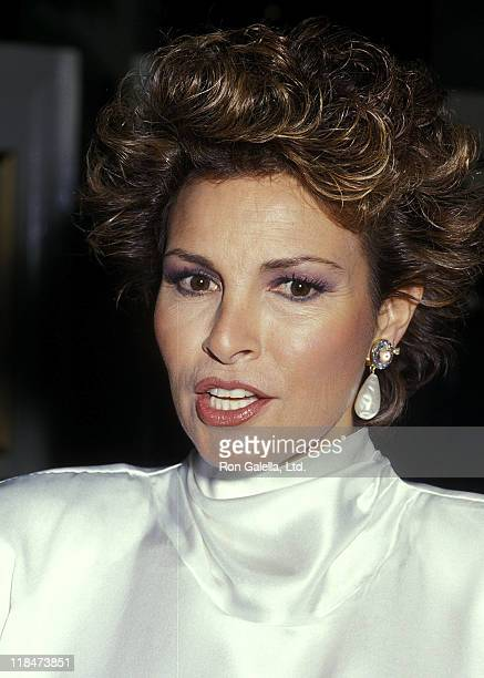 Actress Raquel Welch attends the Literacy Volunteers of New York City's Dinner/Dance Gala to Raises Funds for Adult Illiteracy on October 21 1987 at...