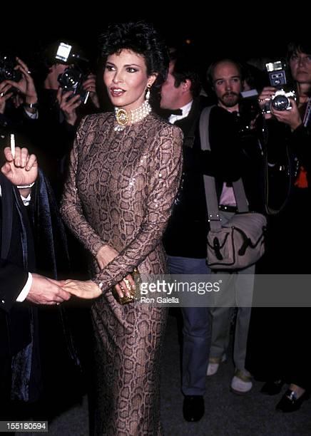 Actress Raquel Welch attends the Metropolitan Museum's Costume Institute Gala Exhibition of La Belle Epoque on December 6 1982 at the Metropolitan...
