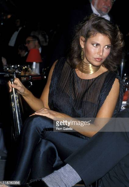 Actress Raquel Welch attends 'The Muppets Go Hollywood' Premiere Party on April 6 1979 at the Cocoanut Grove The Ambassador Hotel in Los Angeles...