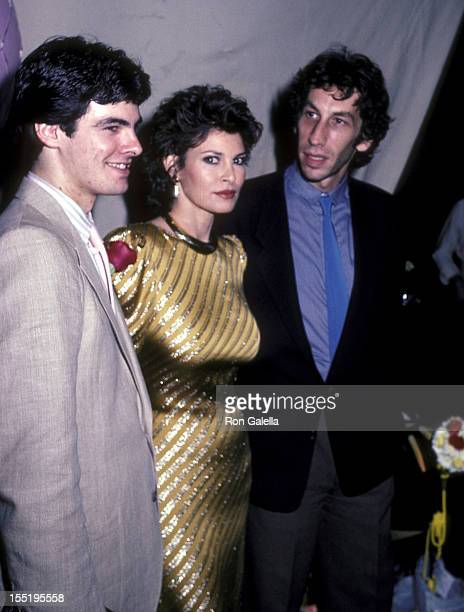 Actress Raquel Welch husband Andrew Weinfeld and her son Damon Welch attend Raquel Welch's Opening Night Performance in Woman of the Year on June 29...