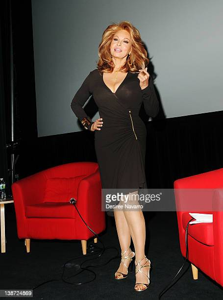 Actress Raquel Welch poses for a photo at the screening of Myra Breckinridge at The Film Society of Lincoln Center Walter Reade Theatre on February...