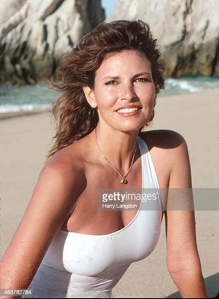 Actress Raquel Welch poses for a portrait in 1980 in Cabo San Lucas Mexico