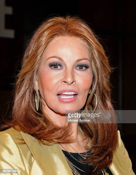 Actress Raquel Welch poses for photographers before signing copies of Raquel Beyond The Cleavage at Barnes and Noble of the Grove on April 6 2010 in...