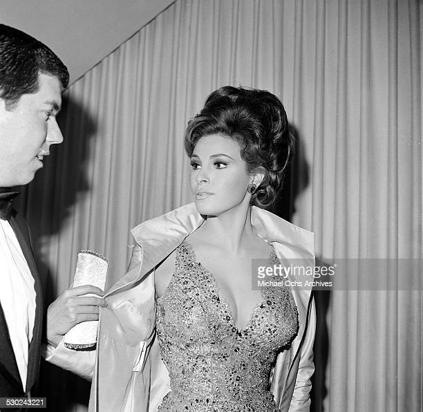 Actress Raquel Welch with husband Patrick Curtis attends an event in Los AngelesCA
