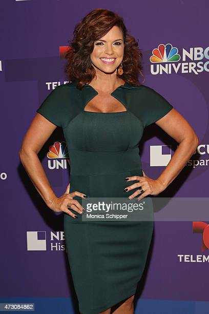 Actress Rashel Diaz attends the 2015 Telemundo and NBC Universo Upfront at Frederick P Rose Hall Jazz at Lincoln Center on May 12 2015 in New York...