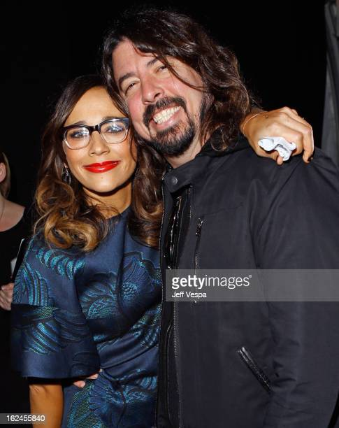 Actress Rashida Jones and Dave Grohl attend the 2013 Film Independent Spirit Awards at Santa Monica Beach on February 23 2013 in Santa Monica...