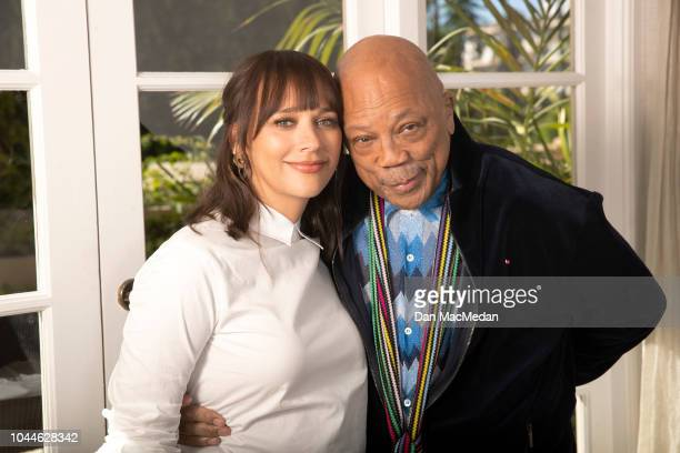 Actress Rashida Jones and father/music producer Quincy Jones are photographed for USA Today on September 18 2018 in Los Angeles California PUBLISHED...