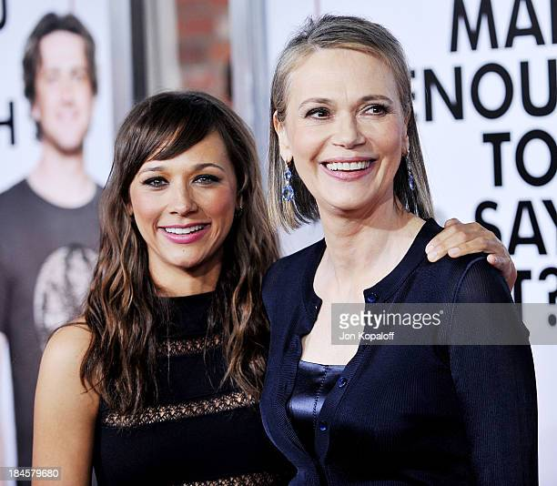 Actress Rashida Jones and mom actress Peggy Lipton arrive at the Los Angeles Premiere 'I Love You Man' at the Mann's Village Theater on March 17 2009...