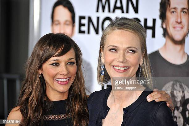 Actress Rashida Jones and mother actress Peggy Lipton arrive at the premiere of 'I Love You Man' held at Mann's Village Theater in Westwood