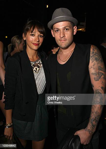Actress Rashida Jones and musician Joel Madden attend the BlackBerry Torch from ATT US Launch Party on August 11 2010 in Los Angeles California