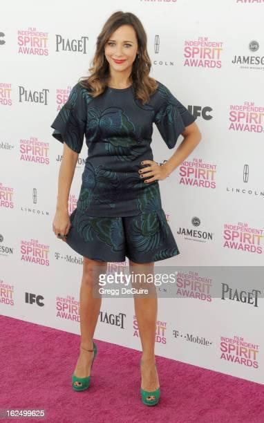 Actress Rashida Jones arrives at the 2013 Film Independent Spirit Awards at Santa Monica Beach on February 23 2013 in Santa Monica California
