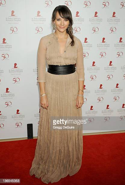 Actress Rashida Jones arrives at the 50th Anniversay Benefit Gala of St Jude Children's Research Hospital at The Beverly Hilton Hotel on January 7...