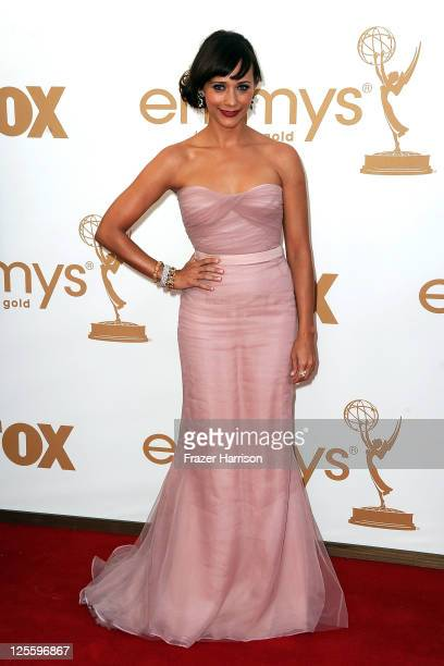 Actress Rashida Jones arrives at the 63rd Annual Primetime Emmy Awards held at Nokia Theatre LA LIVE on September 18 2011 in Los Angeles California