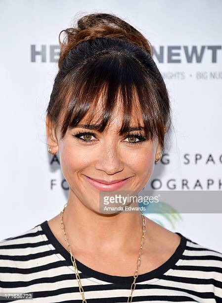 """Actress Rashida Jones arrives at The Annenberg Space For Photography exhibit opening for """"Helmut Newton: White Women - Sleepless Nights - Big Nudes""""..."""