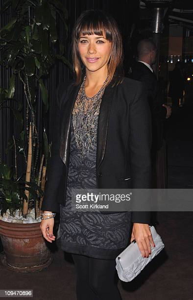 Actress Rashida Jones arrives at the Chanel Charles Finch PreOscar Dinner Celebrating Fashion Film at Madeo Restaurant on February 26 2011 in Los...