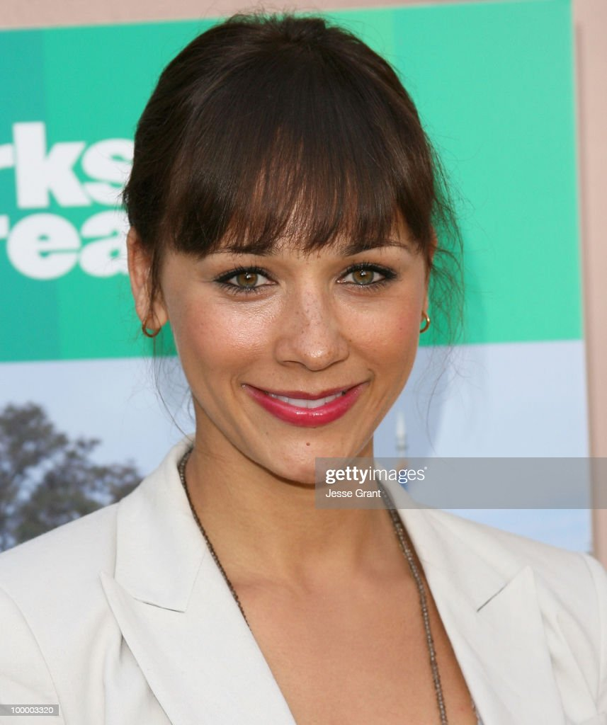 Actress Rashida Jones arrives at the 'Parks And Recreation' Emmy Screening at the Leonard H. Goldenson Theatre on May 19, 2010 in Los Angeles, California.