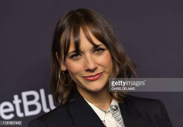 US actress Rashida Jones arrives for the PaleyFest presentation of NBC's Parks and Recreation 10th Anniversary Reunion at the Dolby theatre on March...