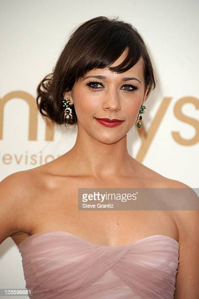 Actress Rashida Jones arrives to the 63rd Primetime Emmy Awards at the Nokia Theatre LA Live on September 18 2011 in Los Angeles United States