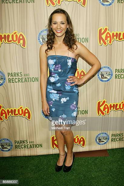 Actress Rashida Jones arrives to the Los Angeles premiere of NBC's new show Parks and Recreation held at MyHouse on April 9 2009 in Hollywood...