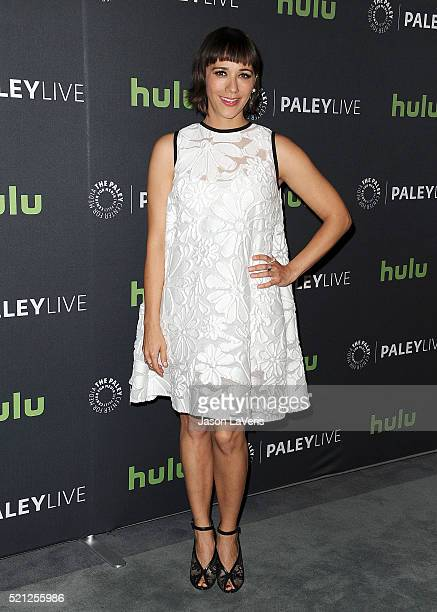 Actress Rashida Jones attends an evening with Angie Tribeca at The Paley Center for Media on April 14 2016 in Beverly Hills California