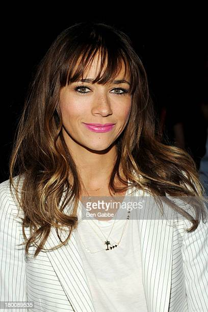 Actress Rashida Jones attends Band Of Outsiders Women's during MercedesBenz Fashion Week Spring 2014 on September 8 2013 in New York City