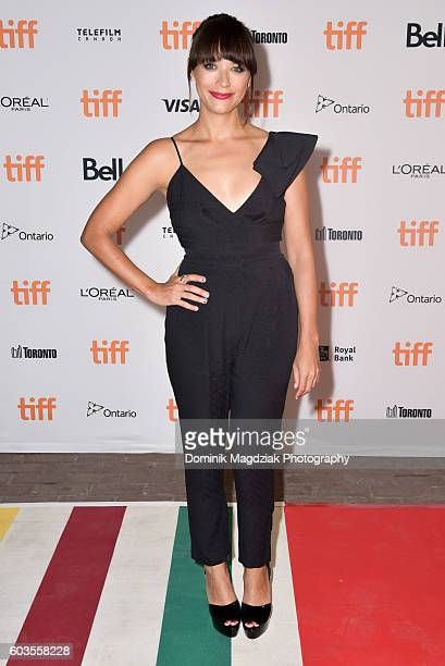Actress Rashida Jones attends 'Black Mirror' premiere during the 2016 Toronto International Film Festival at the Ryerson University Theatre on...