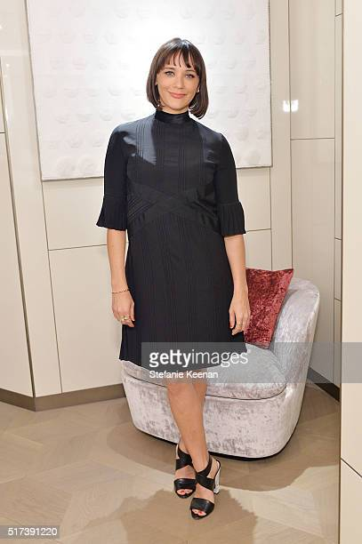 Actress Rashida Jones attends Fendi And Vogue Celebrate Fendi Beverly Hills at Fendi on March 24 2016 in Beverly Hills California