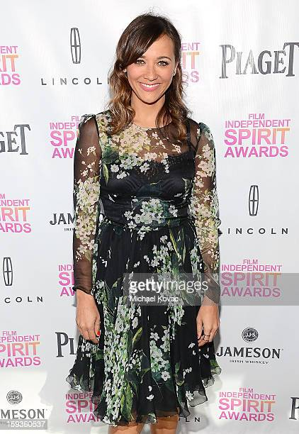 Actress Rashida Jones attends the 2013 Film Independent Filmmaker Grant And Spirit Awards Nominees Brunch at BOA Steakhouse on January 12 2013 in...