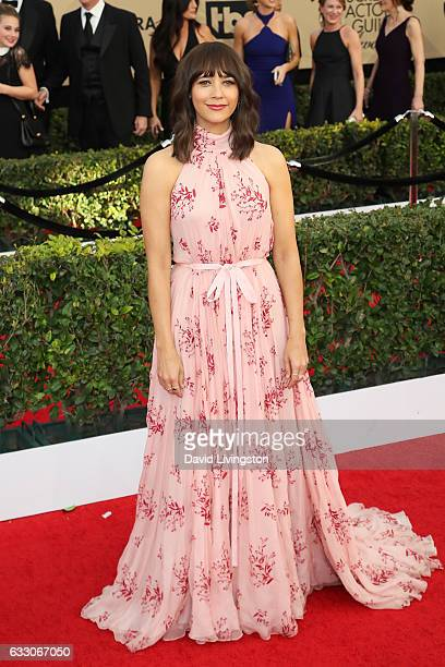 Actress Rashida Jones attends the 23rd Annual Screen Actors Guild Awards at The Shrine Expo Hall on January 29 2017 in Los Angeles California