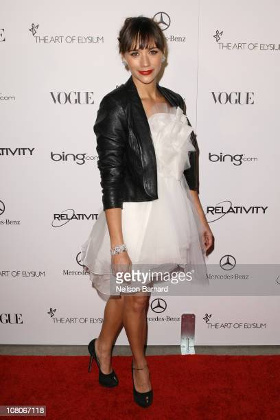 Actress Rashida Jones attends the Art Of Elysium Heaven Gala 2011 at The California Science Center Exposition Park on January 15 2011 in Los Angeles...