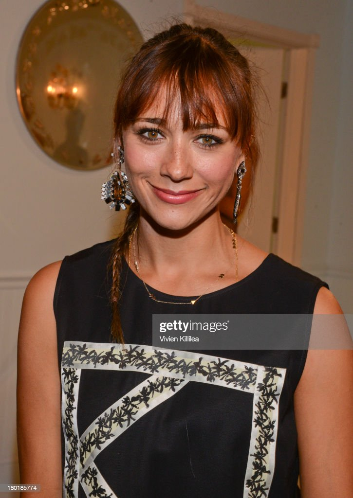 Actress Rashida Jones attends the Dannijo presentation during Mercedes-Benz Fashion Week Spring 2014 at Industria Studios on September 9, 2013 in New York City.